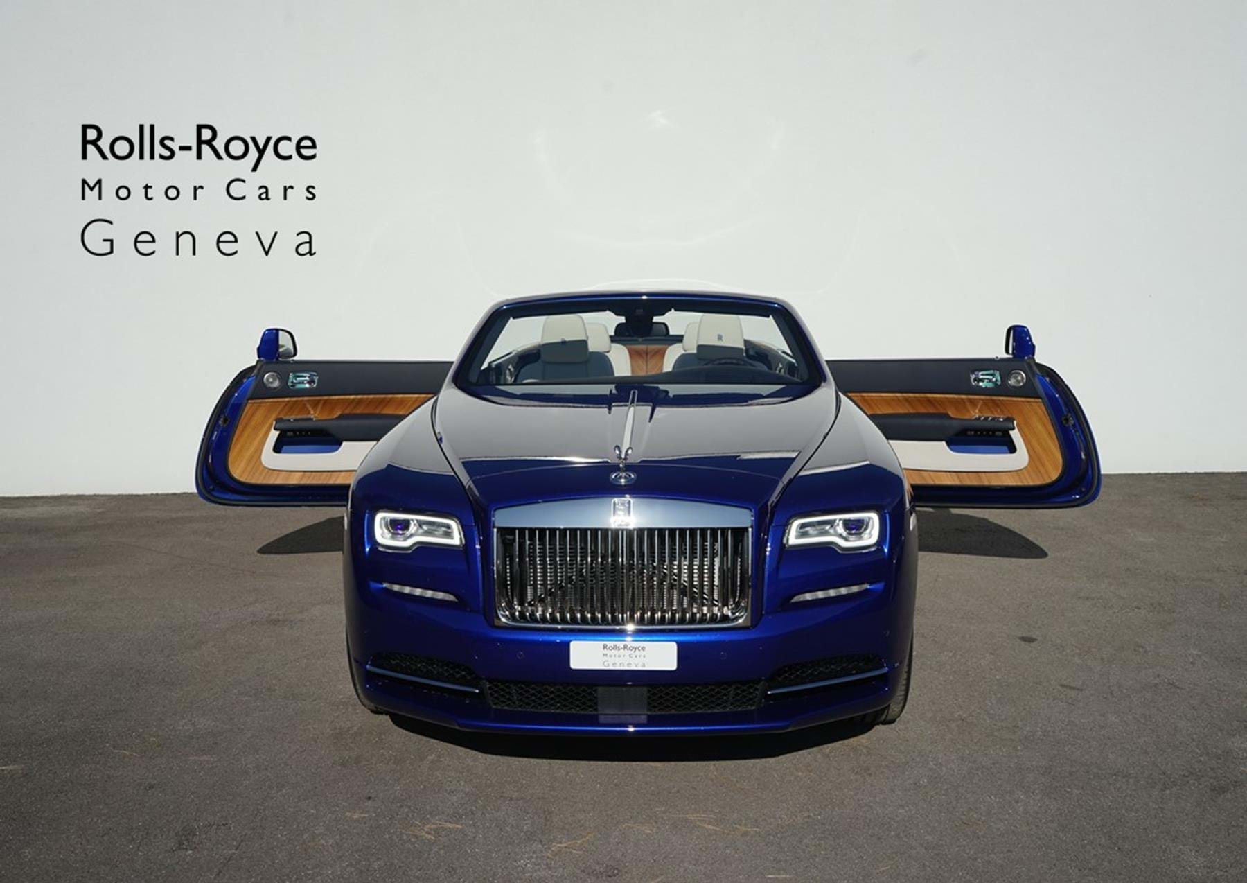 Rolls Royce Dawn Crystal Over Salamanca Blue Pegasus Automotive Switzerland For Sale On Luxurypulse